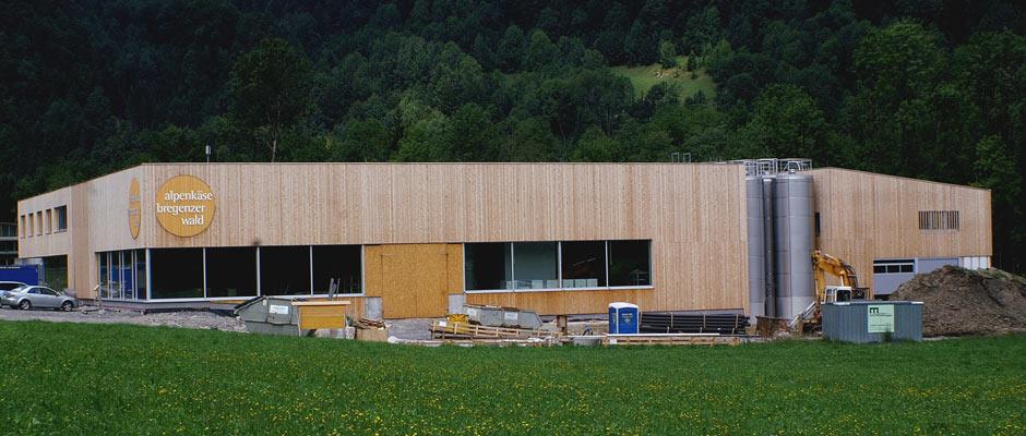Neubau Sennerei alpenkäse bregenzerwald