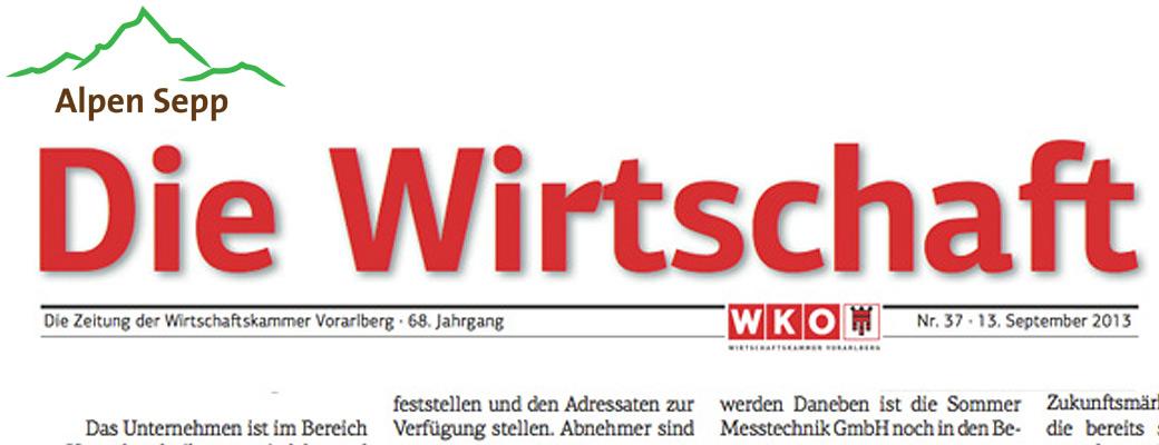 Bericht Alpensepp die Wirschaft 2013