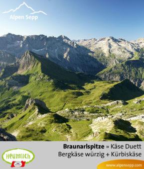 Käseduett Braunarlspitze mit Bergkäse würzig und Kürbiskäse
