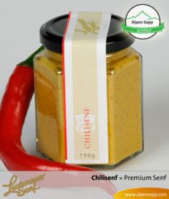 Chilisenf Premium Senf von Lustenauer Senf