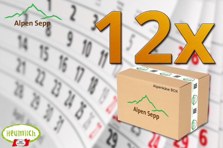 Alpenkäse Käseabo für 12 Monate