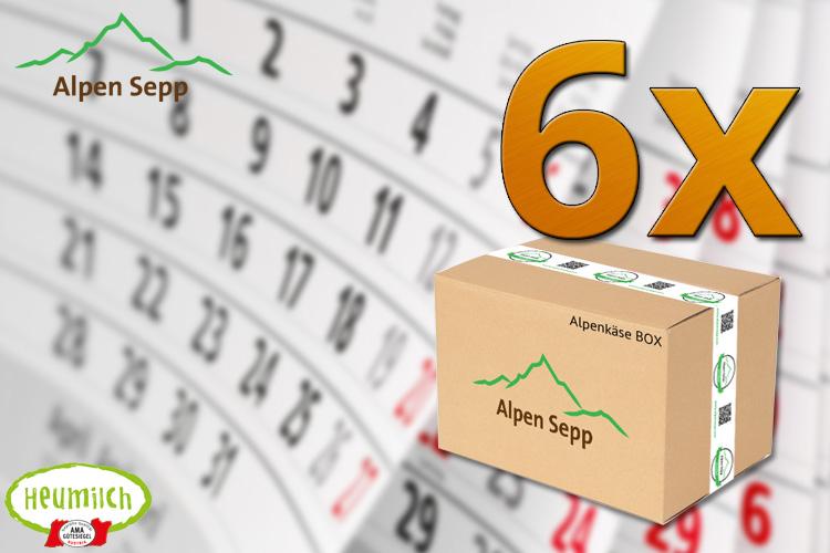 Alpenkäse Käseabo für 6 Monate