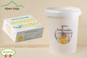 Alpen Produkte Sennerei Sennerbutter und Butterschmalz