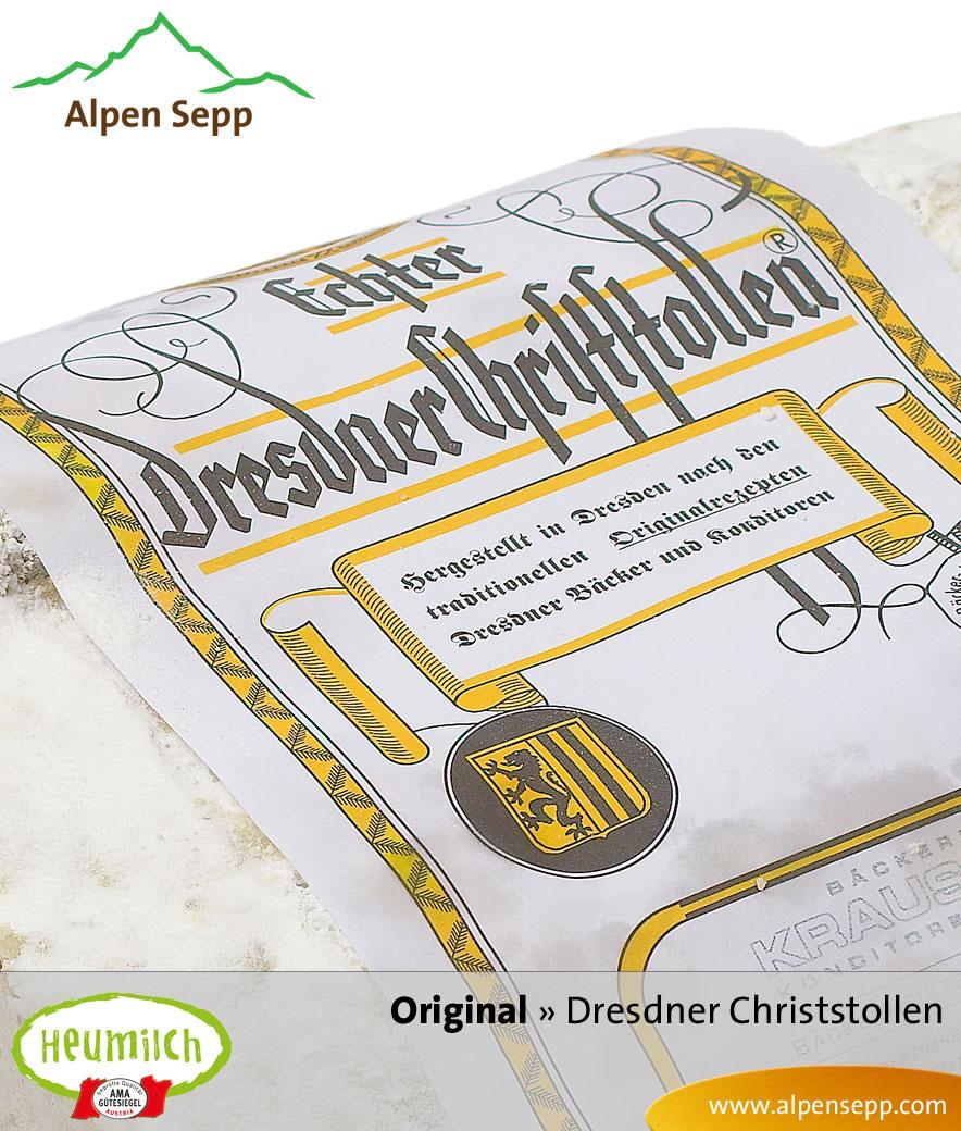 Original Dresdner Christstollen mit Heumilch Butter vom Alpen Sepp