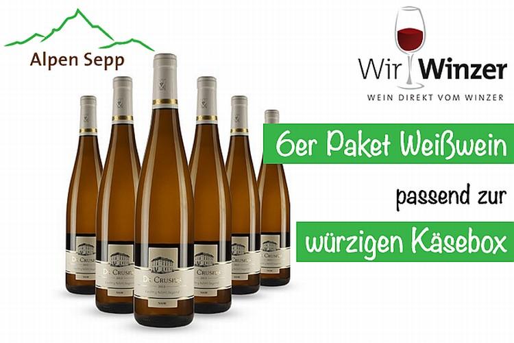 WirWinzer Käse Weinbox weiss