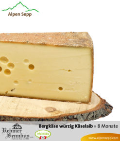 Bregenzerwälder Bergkäse würzig, 8 Monate, Sennerei Rehmen, Käselaib