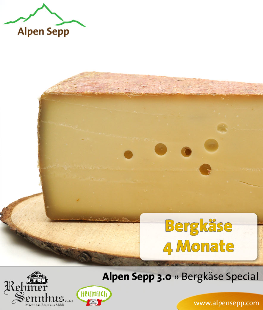 Bergkäse Special Alpen Sepp 3.0, Bergkäse mild und Bergkäse würzig