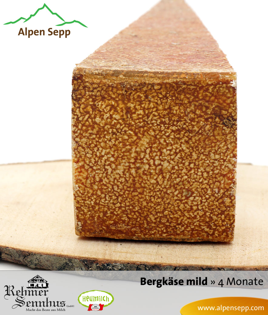 Bregenzerwälder Bergkäse mild, 4 Monate, Sennerei RehmenBregenzerwälder Bergkäse mild, 4 Monate, Sennerei Rehmen