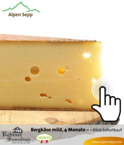 Bregenzerwälder Bergkäse mild, 4 Monate, Sennerei Rehmen, Sofortkauf