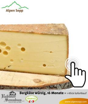 Bregenzerwälder Bergkäse würzig, alt gereift, 16 Monate, Sennerei Rehmen, Sofortkauf