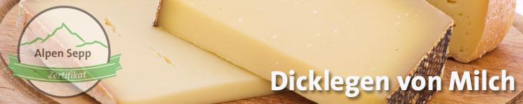Dicklegen von Milch im Käse Wiki vom Alpen Sepp