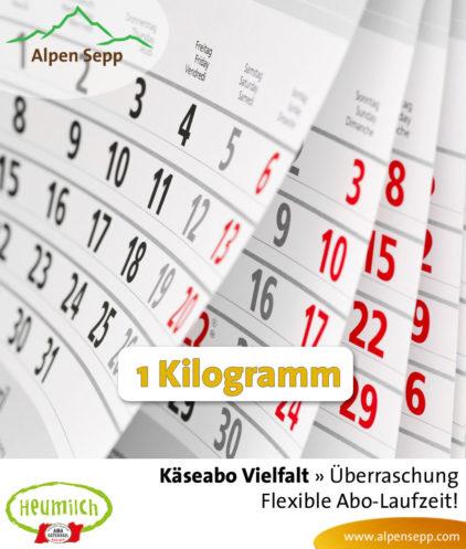 Zufallsabo Käseabo, 1 Kilogramm