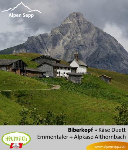 Käse-Duett Komposition Biberkopf