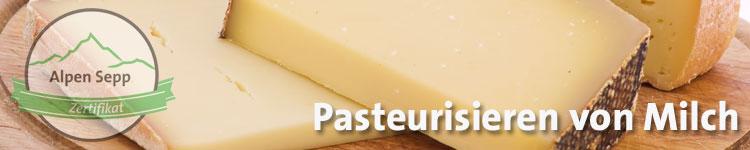 Pasteurisieren von Milch im Käse Wiki vom Alpen Sepp