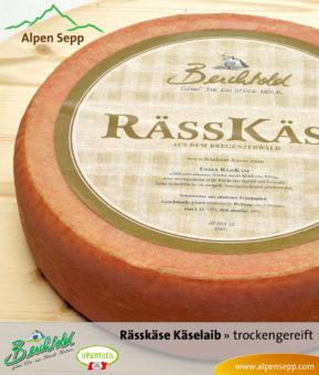 Bregenzerwälder Rässkäse trockengereift Käselaib