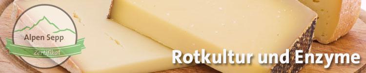 Rotkultur und Enzyme im Käsewiki vom Alpen Sepp