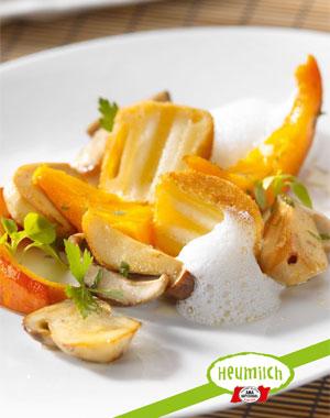 Rezept: Emmentaler mit Apfel, Pilzen und Kürbis