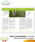 Heumilch Fibel – Lesebuch: Gräserfibel Kräuterfibel, was Heumilchkühen schmeckt