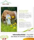 Flyer – Informationsfolder: Heumilch Broschüre