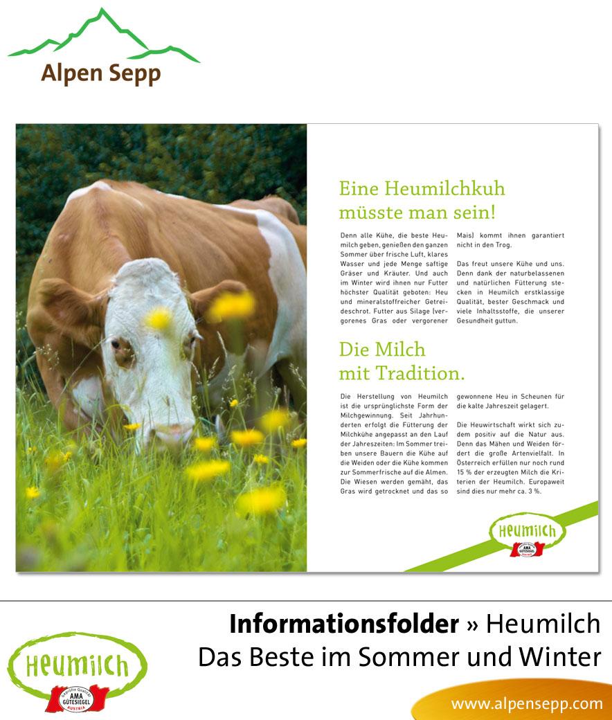 Flyer - Informationsfolder: Heumilch Broschüre