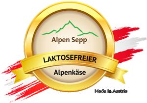 Laktosefreier Alpenkäse Siegel