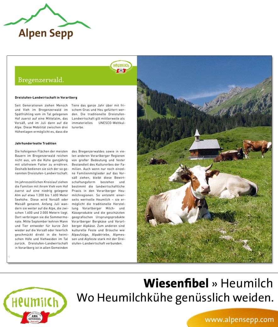 Fibel - Lesebuch: Wo Heumilchkühe genüsslich grasen