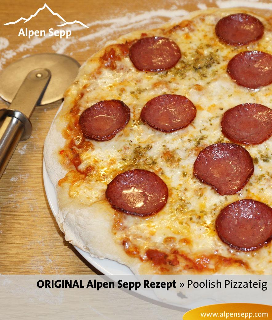 Rezept Pizzateig Poolish - Anleitung