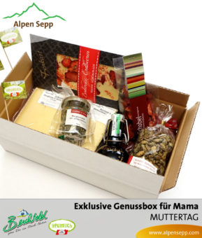 Genussbox für Mama zum Muttertag aus den Alpen