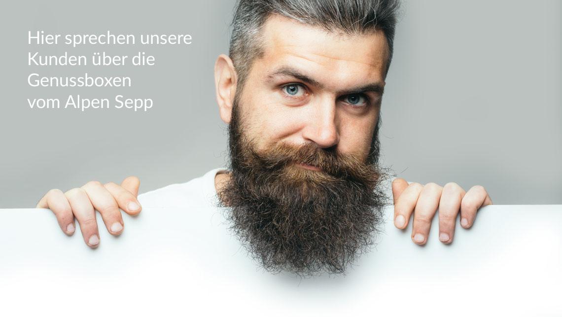 Referenzen - Kunden sprechen über die Genussboxen vom Alpen Sepp