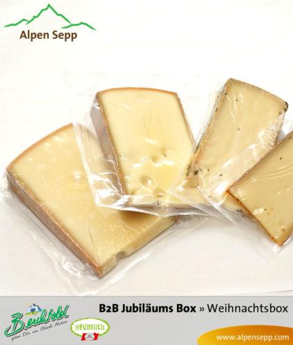 B2B Weihnachtsbox Jubiläum Käseinhalt