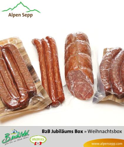 B2B Weihnachtsbox Jubiläum Wurstinhalt
