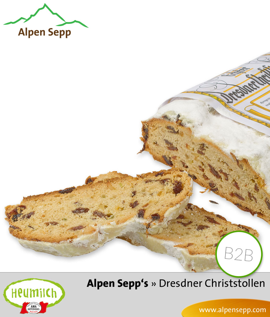 Dresdner Christstollen @Business vom Alpen Sepp