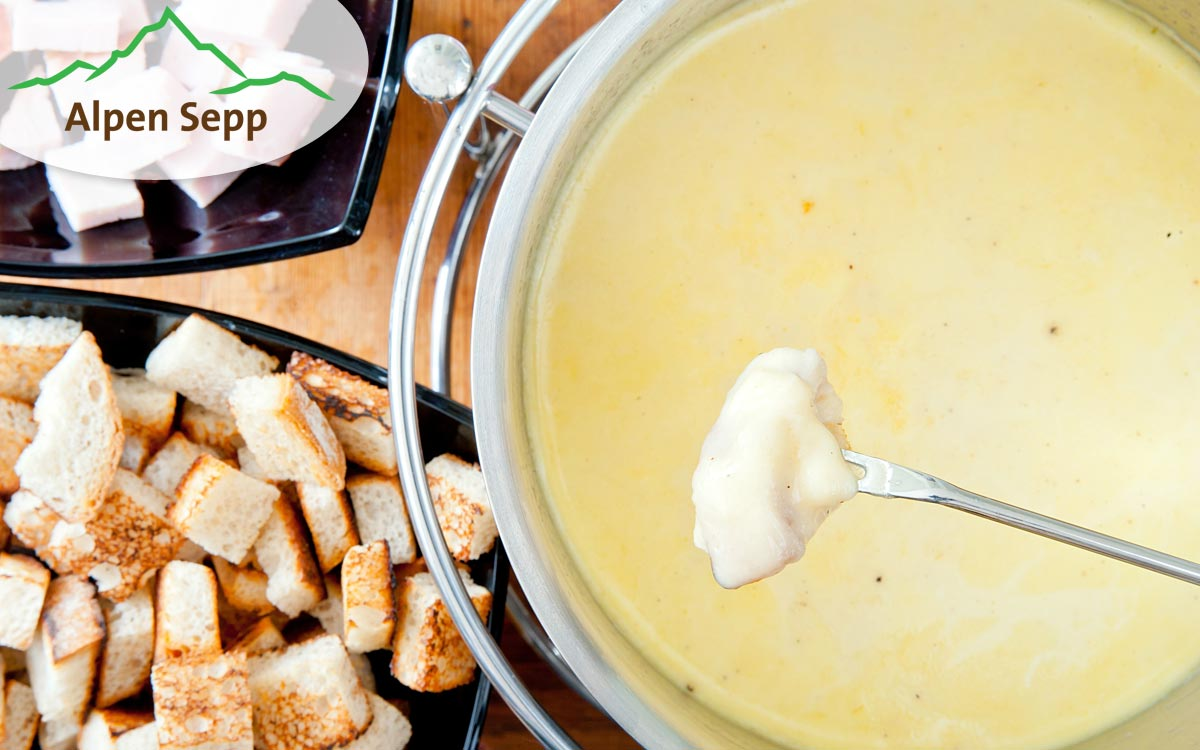Käsefondue aus bestem Heumilchkäse vom Alpen Sepp