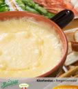 Käsefondue aus Heumilch Alpenkäse