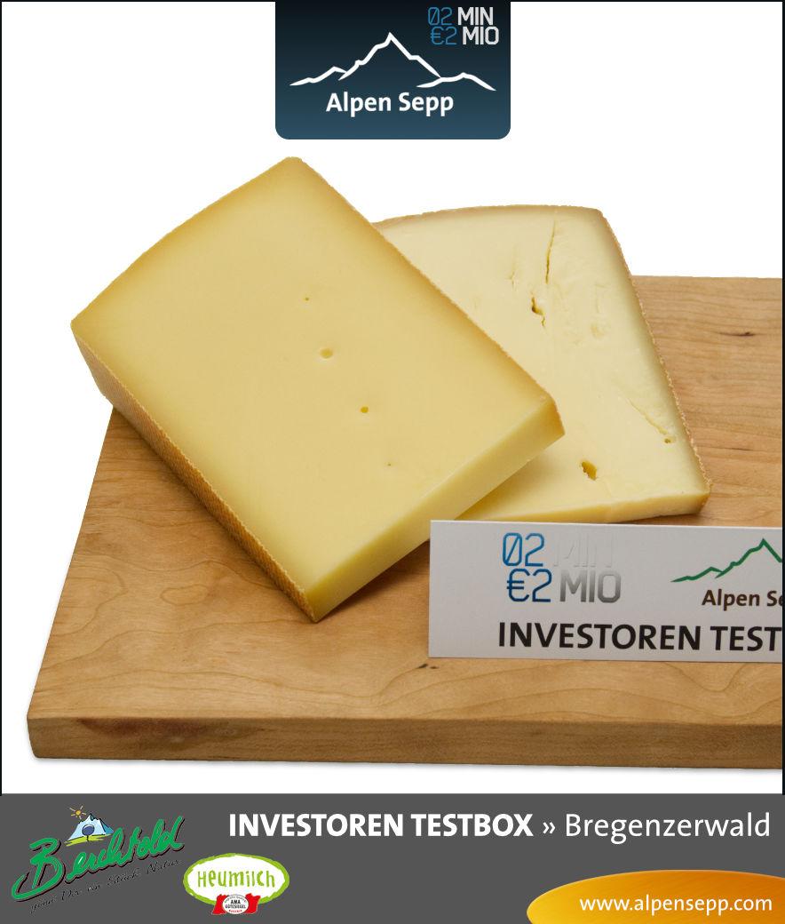 Bergkäse aus Heumilch der Investoren Testbox vom Alpen Sepp