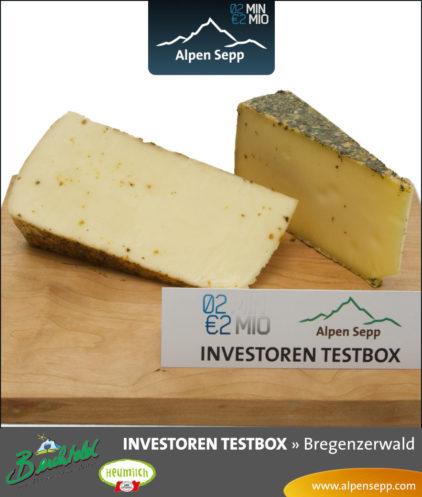 Schnittkäse aus Heumilch der Investoren Testbox vom Alpen Sepp