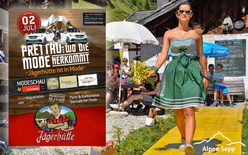 Alpen Modeschau in Prettau Südtirol - Jägerhütte ist in Mode