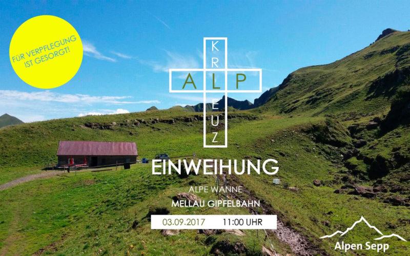 Einweihung Alpkreuz Alpe Wanna - Mellau