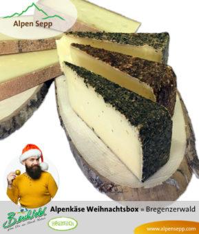 Rehmer Alpenkäse Weihnachtsbox mit 6 Käsesorten