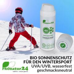BIO Sonnenschutz für den Wintersport von PROnatur24