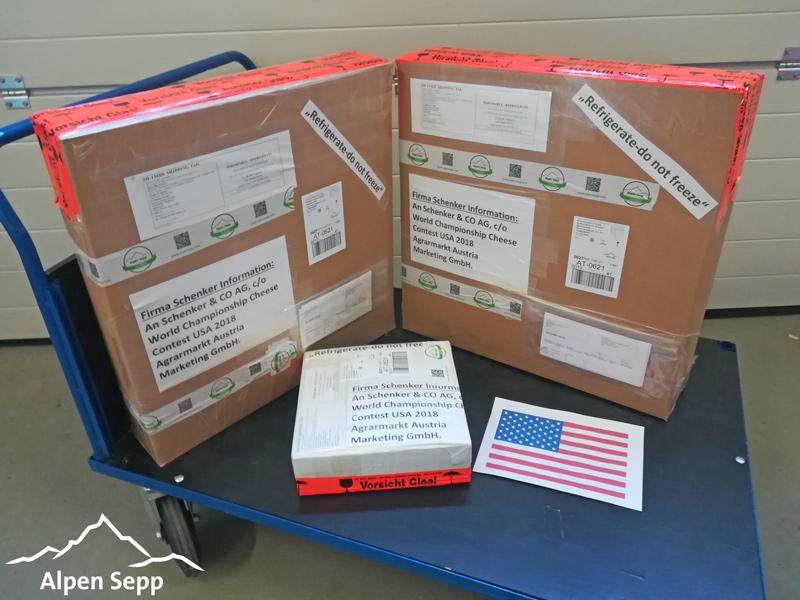 Käse Pakete für USA Versand Weltmeisterschaft