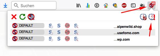 Script Blocker deaktivieren