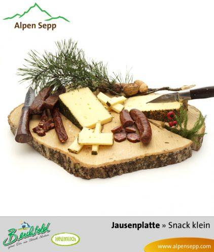 Kleine Snack Box mit Wurst und Käse