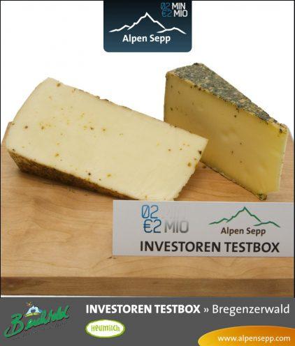 Käse der 2m2m Investoren Testbox