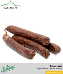 Rehbeisserle | geräucherte Rohwurst vom Reh | 4 Stück