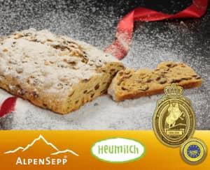 ORIGINAL Dresdner Christstollen ® by AlpenSepp® | 1,5 kg Stollen mit echter Sennereibutter und Butterschmalz (Ghee) aus Heumilch® | Exklusiv auf Vorbestellung. Feedbild.