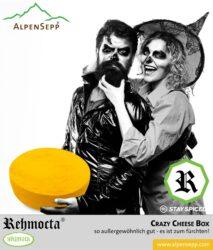 REHMOCTA® Käsebox CRAZY CHEESE mit 5x Käsesorten - Ehni, Ähle, Dätta, Peppino & der Bärige | 1 kg